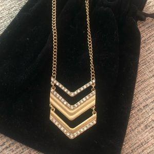 JCREW CHEVRON GOLD NECKLACE